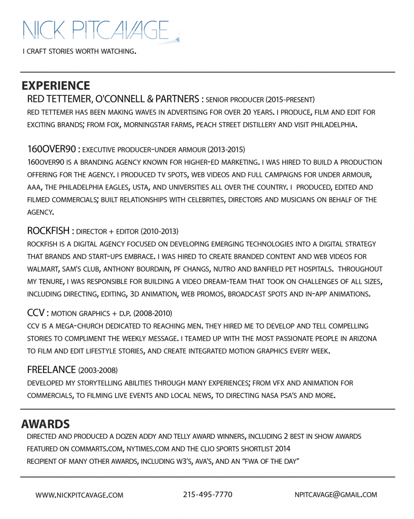 NickPitcavage_2016Resume